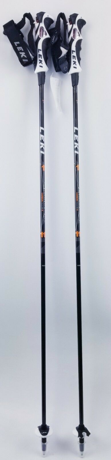 220 LEKI  Carbon 11S Trigger S Compatible Ski Poles 110CM 44  Downhill Skiing  lowest prices