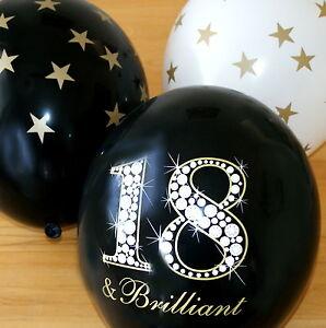 18 geburtstag schwarz wei gold 18jahre latex luftballon als dekoration teenager ebay. Black Bedroom Furniture Sets. Home Design Ideas