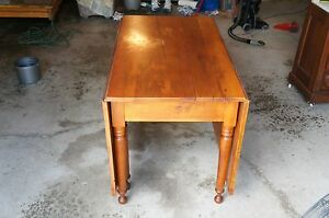 Solid Maple Antique Gateleg Dining Table Primitive Dropleaf Early
