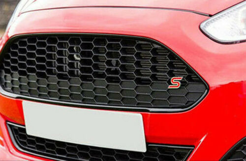Metal Ford Zetec S Grill Badge For Fiesta//Focus S ST With Fitting Kit