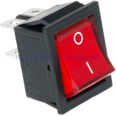 10 pcs 4 Pin DPST Illuminated Boat Car Rocker Switch Button 6A Black K104N