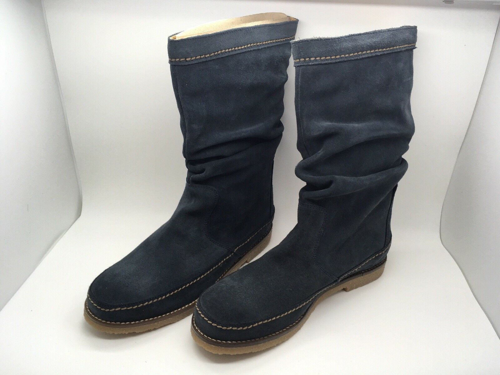 Stiefel TSB neu blaues Leder Größe 38 EUR   6.5 US
