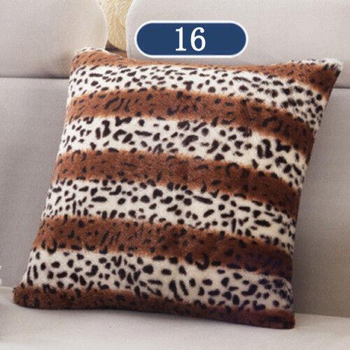 "1X Home Decor Plush Square Pillow Case Fur Fluffy Cushion Covers 17 *17/"""
