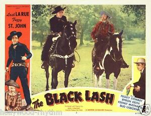Lash Larue And Fuzzy St John On Their Horses The Black Lash 11x14 Lc