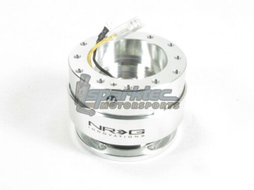NRG Steering Wheel Quick Release Kit Gen 1.0 Silver Body w// Matte Silver Ring