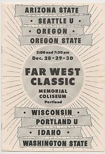 1960-Far-West-Basketball-Program-Seattle-Oregon-Oregon-St-Washington-St-RARE