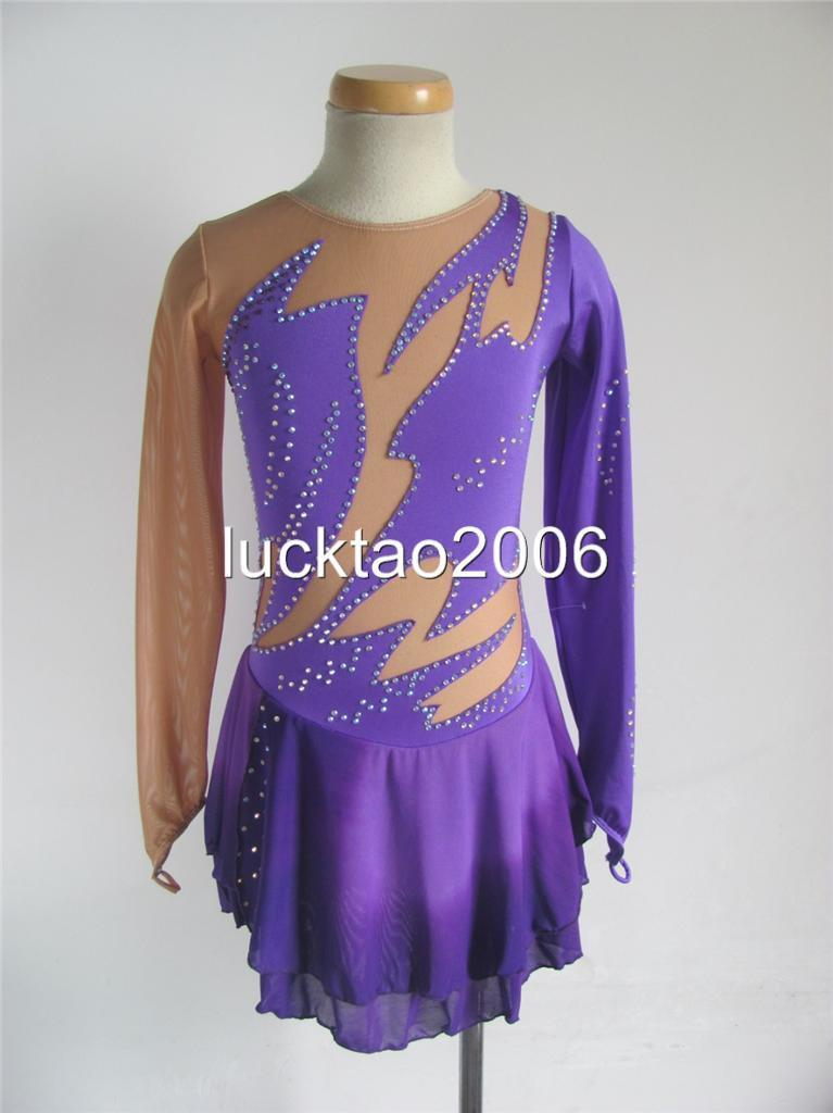 2018 new style Figure Skating Dress Ice  Skating competition Dress 8135 size 12  guaranteed