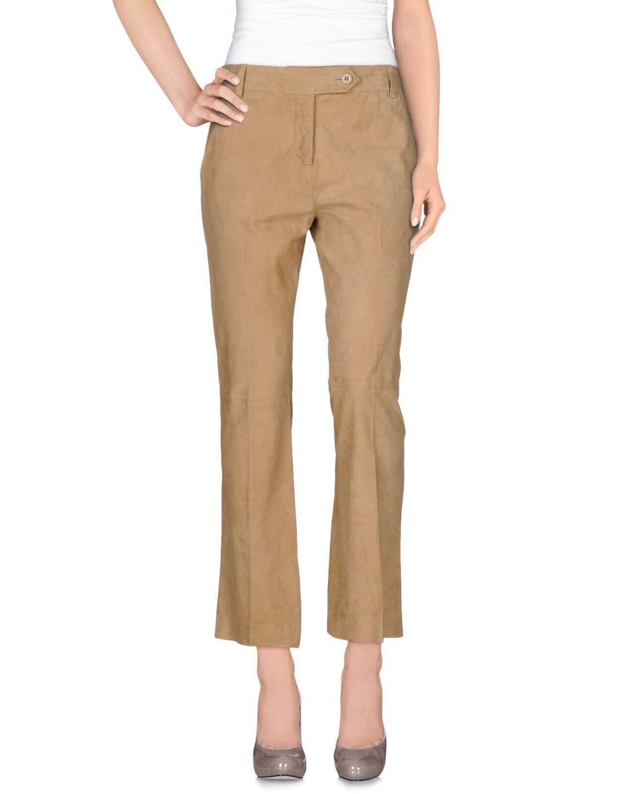 Ermanno Ermanno Ermanno Scervino Suede Leather Beige Pants Trousers - W34 L26.5 | Moderne Technologie  | Großartig  | eine breite Palette von Produkten  0cfdc6