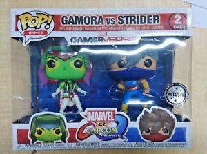 Marvel-contre-Capcom-Gamora-Strider-Lecteur-2-Funko-Pop-2-Paquet-Exclusif