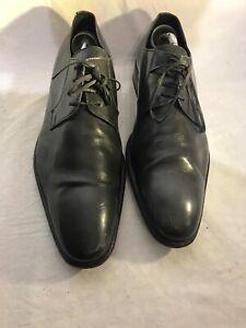 Doucals-para-hombre-de-cuero-gris-Formales-Con-Cordones-Zapatos-Uk-42-ref-Ju01