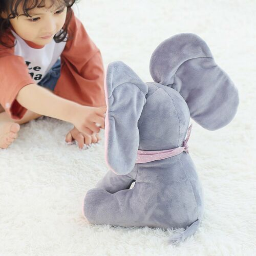 Peek A Boo Elephant Toddler Kid Children Play Soft Toy Plush Blanket Kids Gift