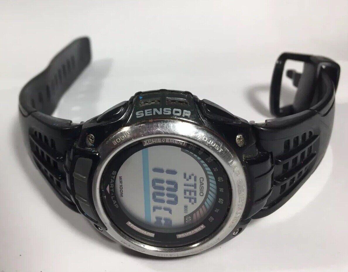 Men Casio Watch Pedometer Sensor 3166 Sgw200 World Time Calorie Meter 150 Lap
