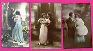 WOMAN-AND-MAN-ROMANCE-LOT-OF-20-VINTAGE-PHOTO-POSTCARD-488