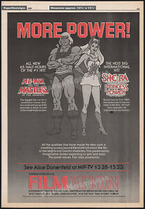 HE-MAN MOTU_/_SHE-RA: Princess of Power__Orig. 1985 Trade AD / poster__Filmation