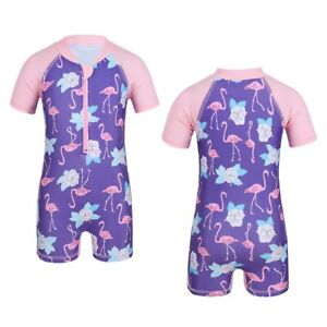 Baby Mädchen UV Schutz Badeanzug Flamingo Neoprenanzug für Wettkampf Bademode