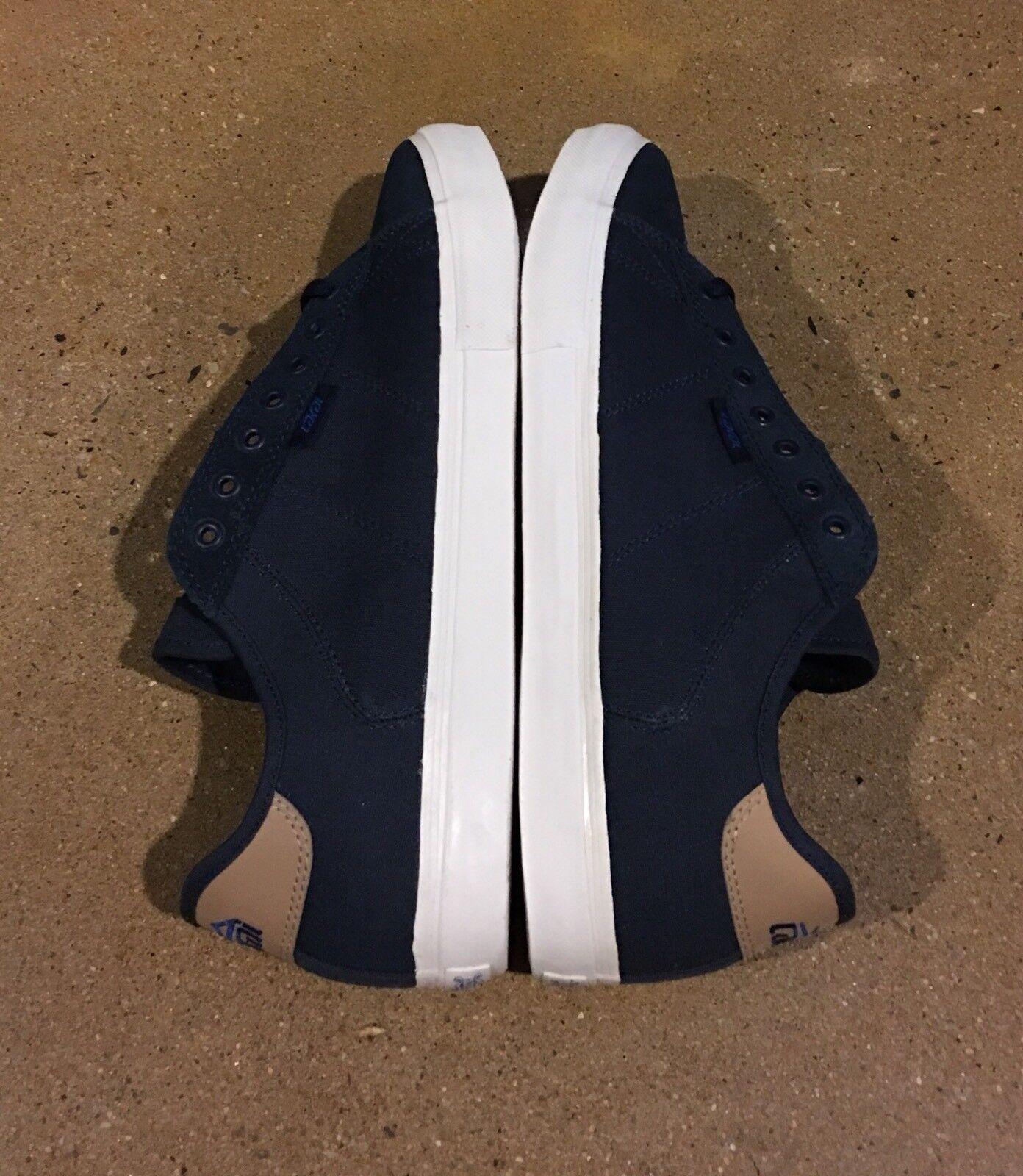 Lakai Howard Select Lean Series Size Navy Canvas BMX Skate Shoes Deadstock