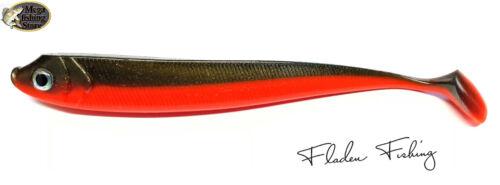 Fladen Spyder Shad Gummifisch Rot Bronze 13cm 15cm 20cm Hecht Zander Butt Dorsch