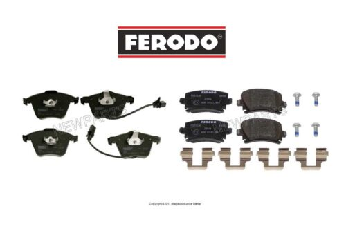 For Audi A4 Quattro V6 L4 Pair Set of Front /& Rear Disc Brake Pad Sets Ferodo