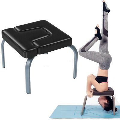 yoga inversion chair yoga headstand bench w/ steel frame