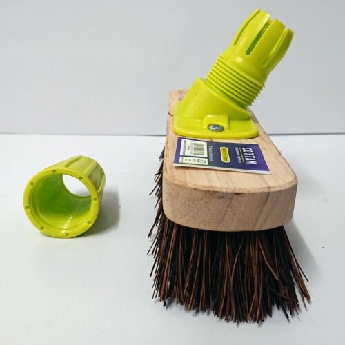 "Deck Hull Scrubbing Brush Scrubber 8/"" Paths Patios Garden Decking JU2"