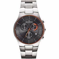 Skagen Mens Balder Titanium Chronograph Watch, Grey Dial, 5 ATM SKW6076