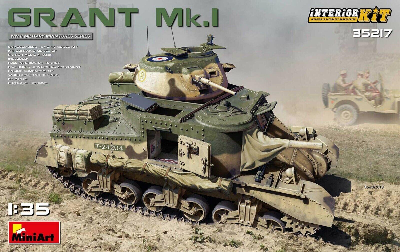 MINIART 35217 1 35 SCALE MODEL GRANT Mk.I INTERIOR KIT
