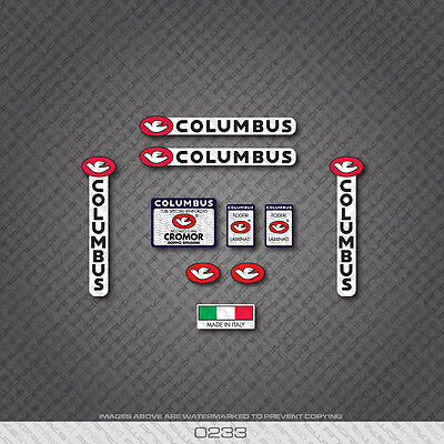 0092 Columbus CROMOR Tre Tubi Bicycle Frame and Fork Stickers Decals