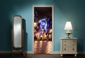 Door-Mural-Harry-Potter-Diagon-Alley-View-Wall-Stickers-Decal-Wallpaper-307