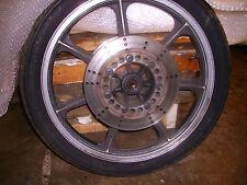 "Kawasaki KZ1100 Z1100 Shaft 1981 Seven Spoke 19"" Front Cast Wheel"