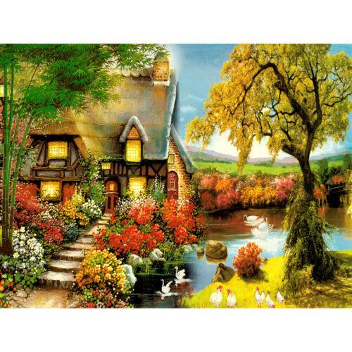 DIY Malen nach Zahlen Kit Landschaft handgemalte Leinwand Öl Kunst Bild