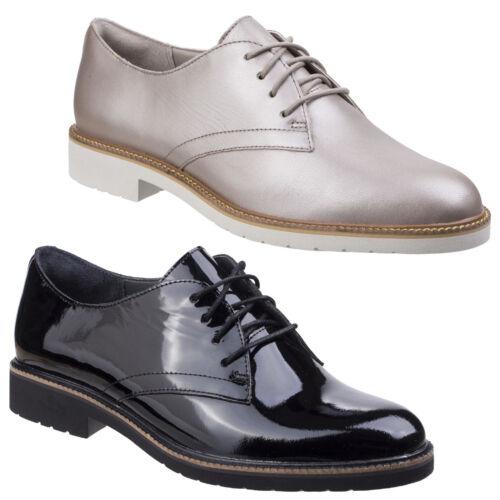 Cordones Con Elegante Mujer Derby Rockport Abelle Planos Zapatos Cuero vWq1FtHwYn