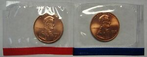 1996-P-and-D-Lincoln-Cents-Grading-GEM-BU-in-Original-Mint-Cello-Packs-FREE-S-amp-H