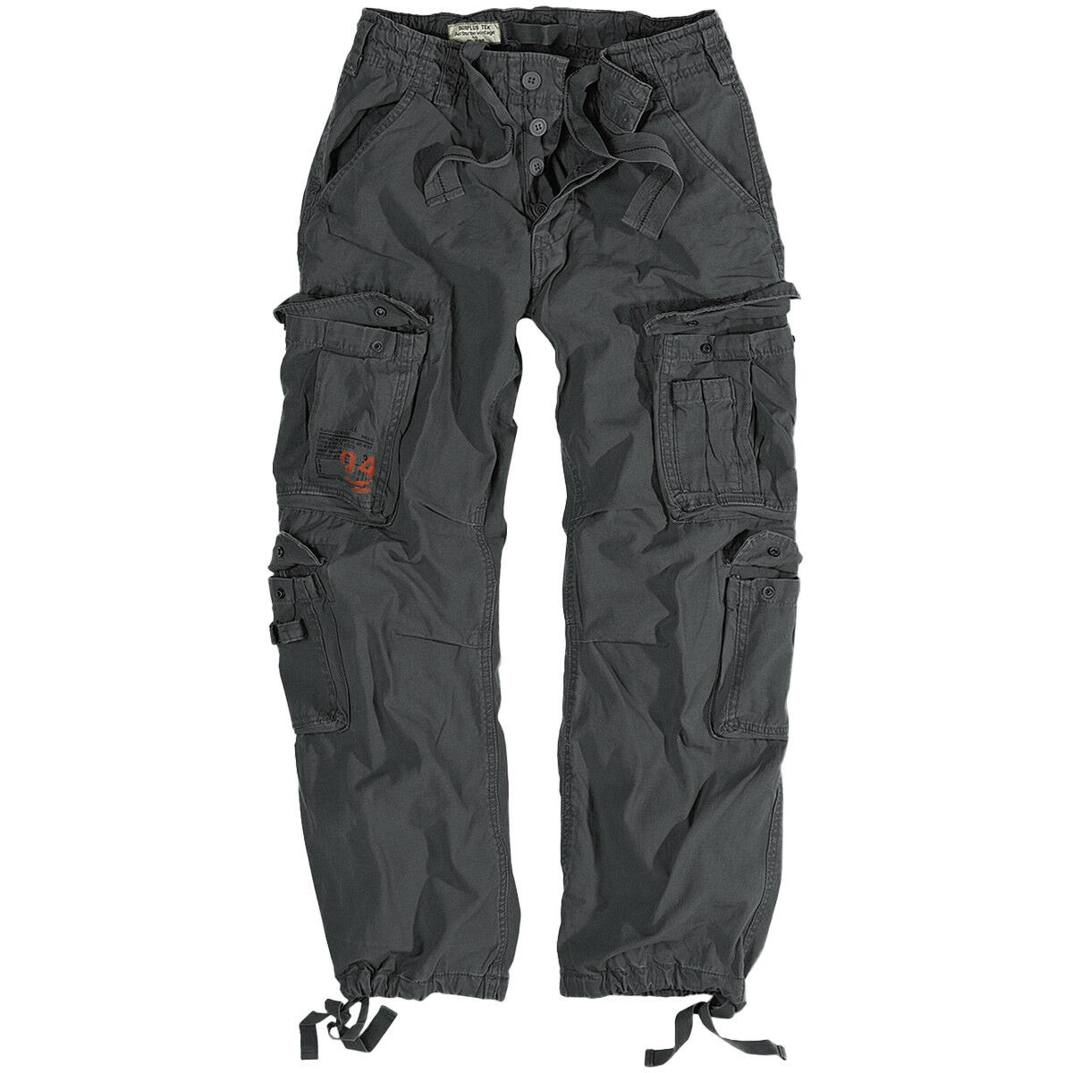 Surplus Airborne Vintage Trousers Mens Cotton Cargo Combat Trousers Anthracite