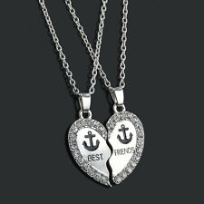 New Creative Broken Heart Two Parts Pendant Necklaces Gift For Best Friends