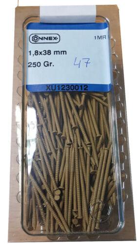 braun-1,8x 38mm 250 Gramm  #47 Farbnägel Farbstifte Nägel farbig lackiert
