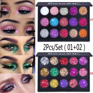 2Pcs-Shimmer-Glitter-Eye-Shadow-Powder-Palette-Matte-Eyeshadow-Cosmetic-Makeup