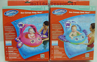 NEW SWIMWAYS INFLATABLE POOL SUN CANOPY BABY BOAT STEP ONE AGES 9-24 MONTHS Toys