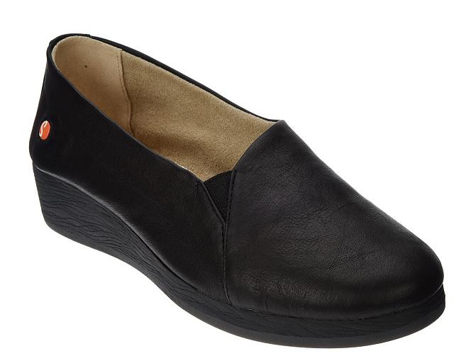 comprare a buon mercato Softinos by FLY London London London Leather Slip-on scarpe - Ako nero Donna  EU35 US 5 New  tutto in alta qualità e prezzo basso