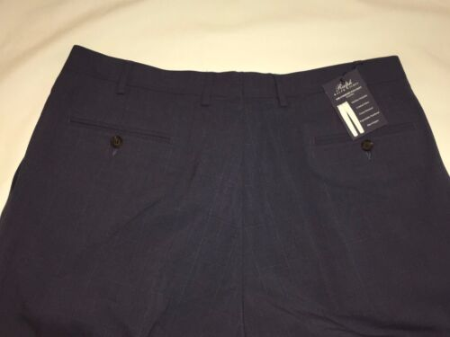 NWT POLO RALPH LAUREN MEN/'S COMFORT FLEX PLEATED DRESS PANT BLUE CHECKS