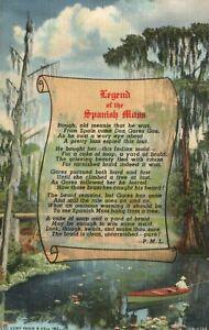 Vintage Postcard 1944 Legend of the Spanish Moss