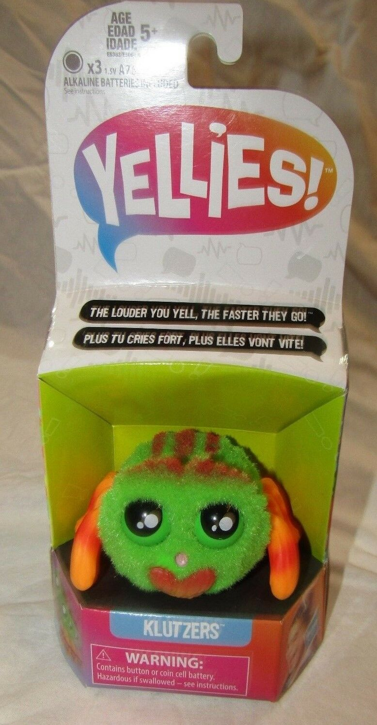 HASBRO YELLIES  Klutzers  Voice-Activated Spider Pet - NEW