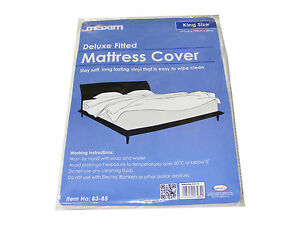 1 king size tanche vinyle prot ge matelas lit humidit b che grande taille ebay. Black Bedroom Furniture Sets. Home Design Ideas