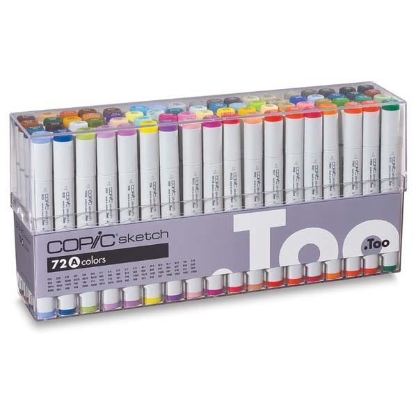 too copic marker 72piece sketch set a from japan ebay