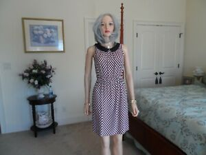 Kate-Spade-NY-Ivory-Black-Hot-Pink-Print-100-Silk-Sheath-Dress-Size-0
