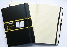 Idena Notizbuch DIN-A5 liniert schwarz Hardcover Tagebuch Kladde 192-Seiten