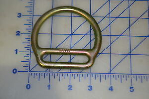 "1 D ring for 2"" webbing for survival harness outdoor straps pull steel cadmium"