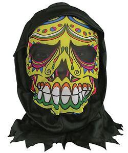 Affections De La Peau Masque Avec Capuche Le Jour Des Morts, Halloween, Robe Fantaisie-afficher Le Titre D'origine