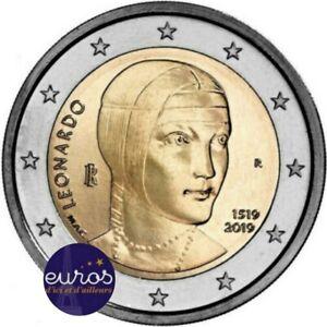 2-euros-commemorative-ITALIE-2019-Leonard-de-VINCI-Qualite-UNC
