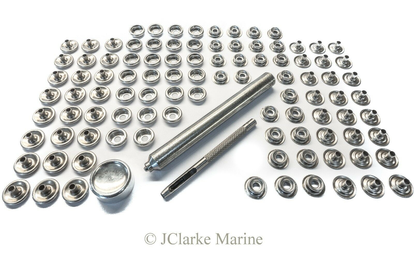 316 Stainless steel snap fastener kit canvas to canvas boat canopy cover bimini