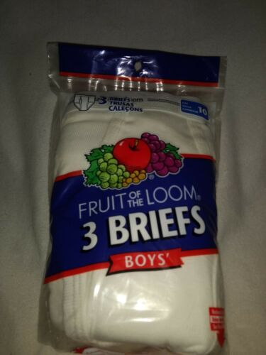 Fruit of the Loom Boys Briefs Size 10-3 Briefs